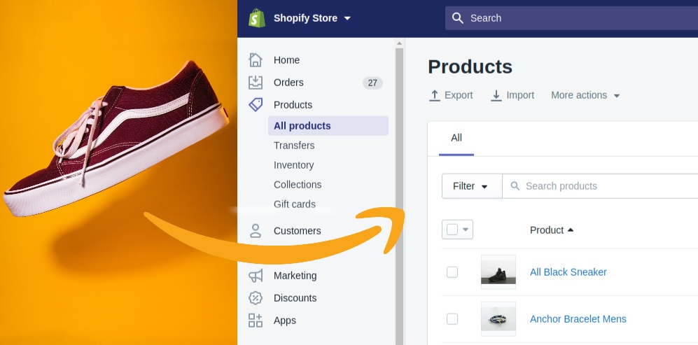 Sell Amazon products on Shopify store