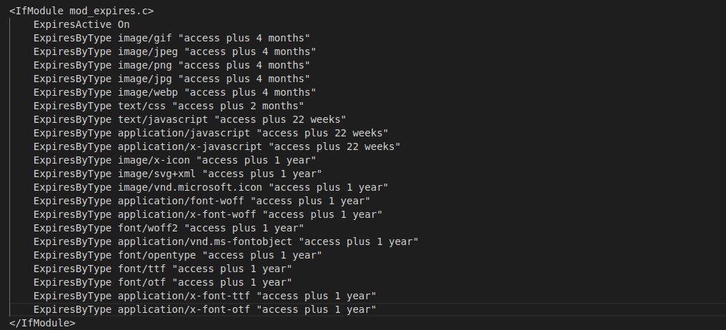 customized timeline saved in .ht access file