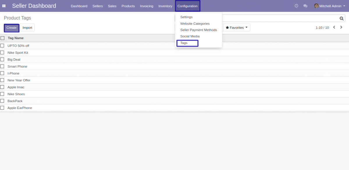 Product tags in Odoo Marketplace