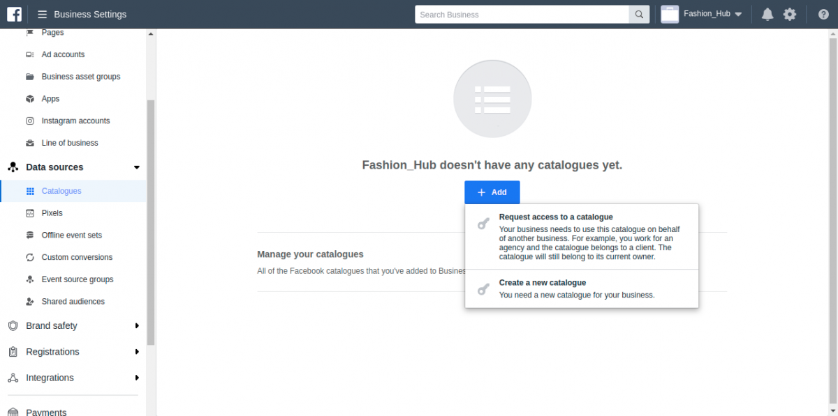 webkul-magento2-facebook-shop-business-settings