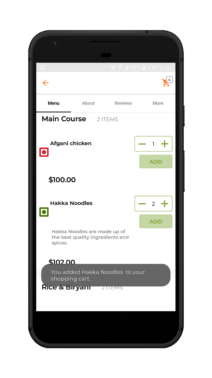 webkul-Online Food Delivery-customer-add-product-to-cart