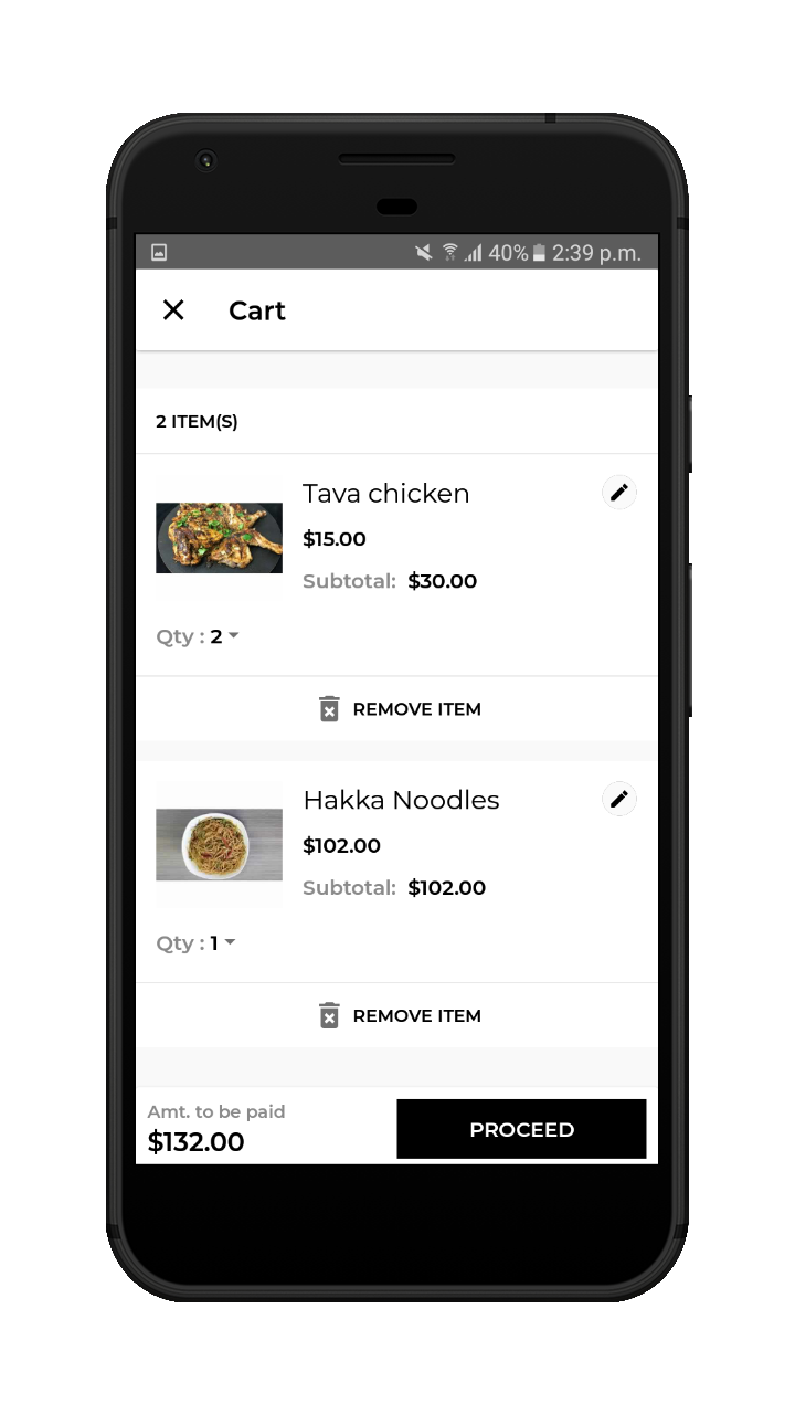 webkul-Online Food Delivery-customer-cart-details