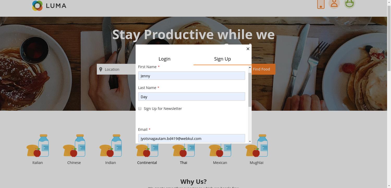 webkul-magento2-food-delivery-maketplace-customer-lregisteration