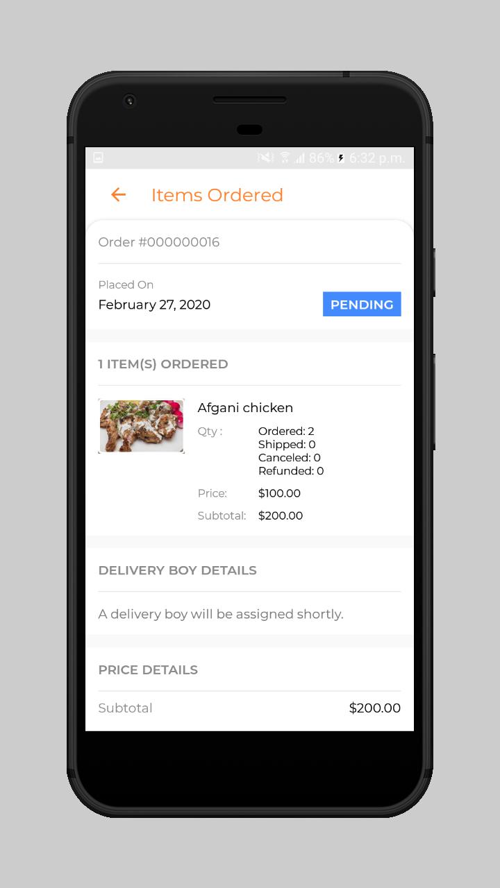 webkul-magento2-Online Food Delivery-customer-order-rejectfion