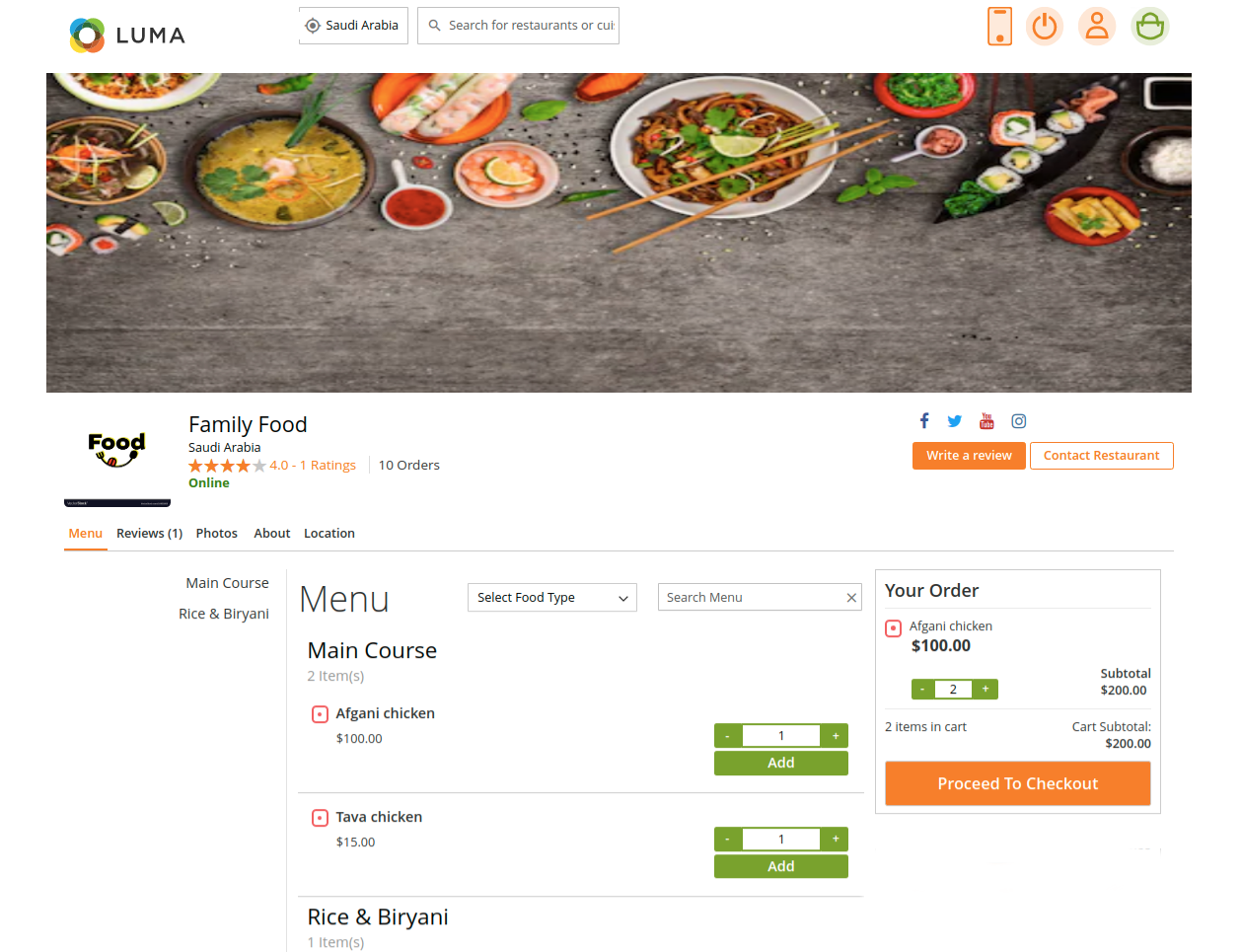 webkul-magento2-food-delivery-maketplace-customer-view-order-cart