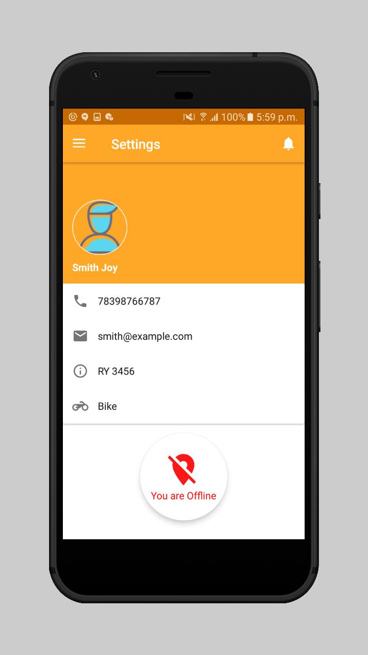 webkul-Online Food Delivery-maketplace-delivery-boy-offline