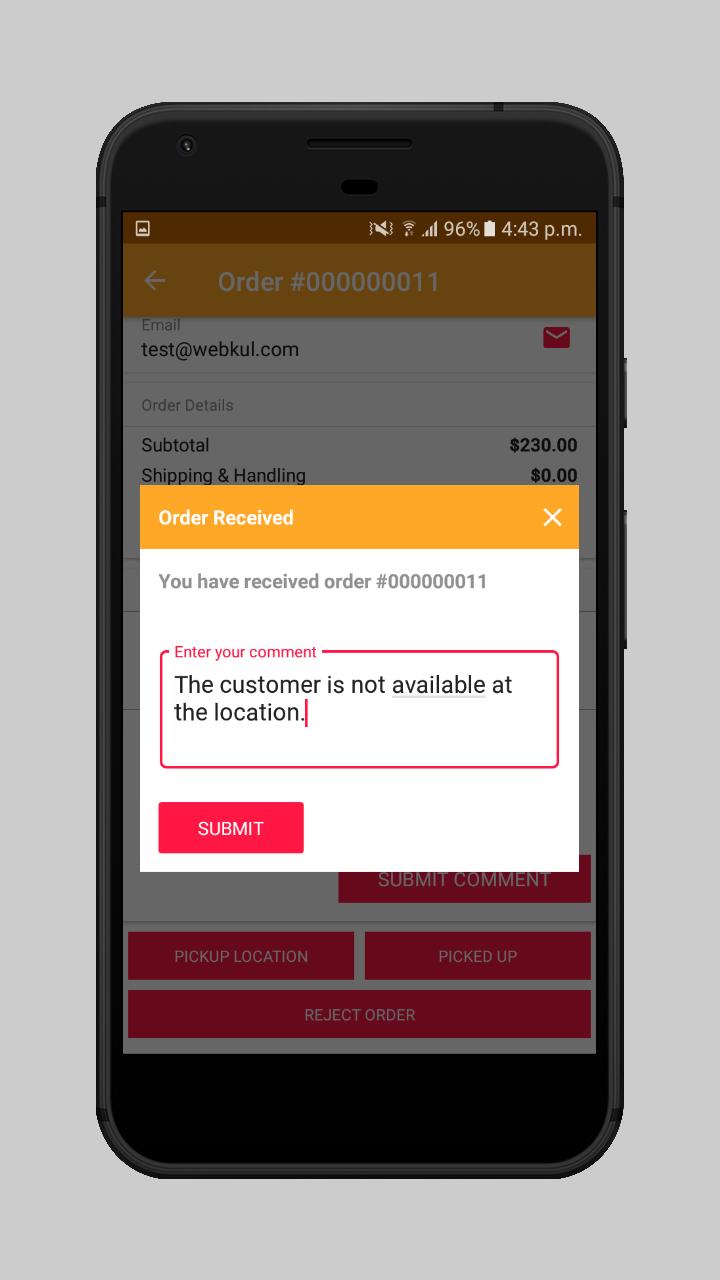 webkul-magento2-food-delivery-maketplace-delivery-boy-reject-order