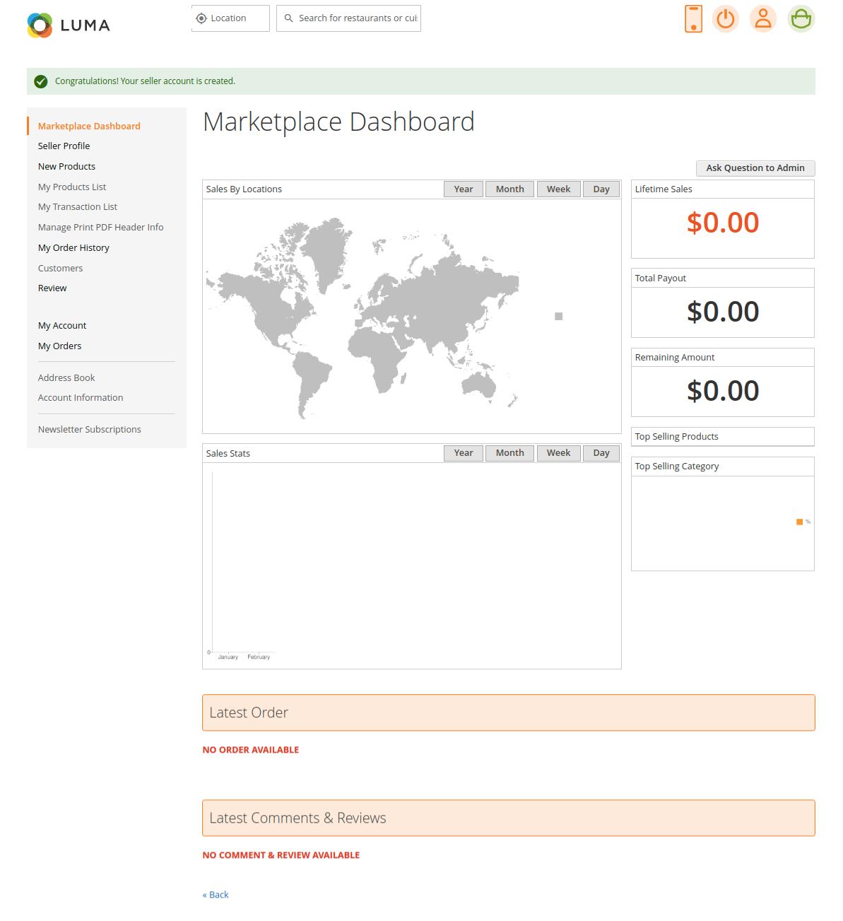 webkul-magento2-Online Food Delivery-seller-marketplace