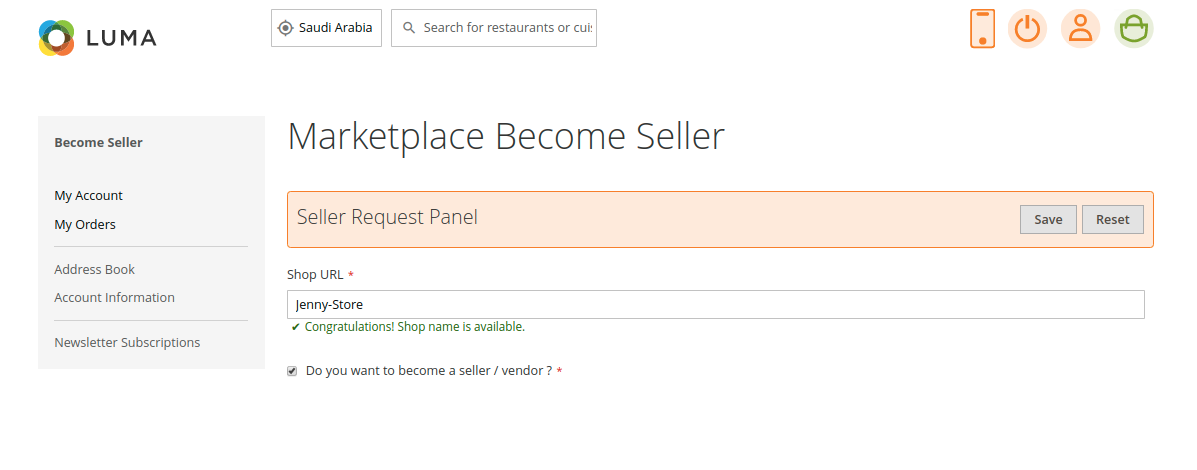 webkul-magento2-food-delivery-maketplace-user-become-seller-checkbox
