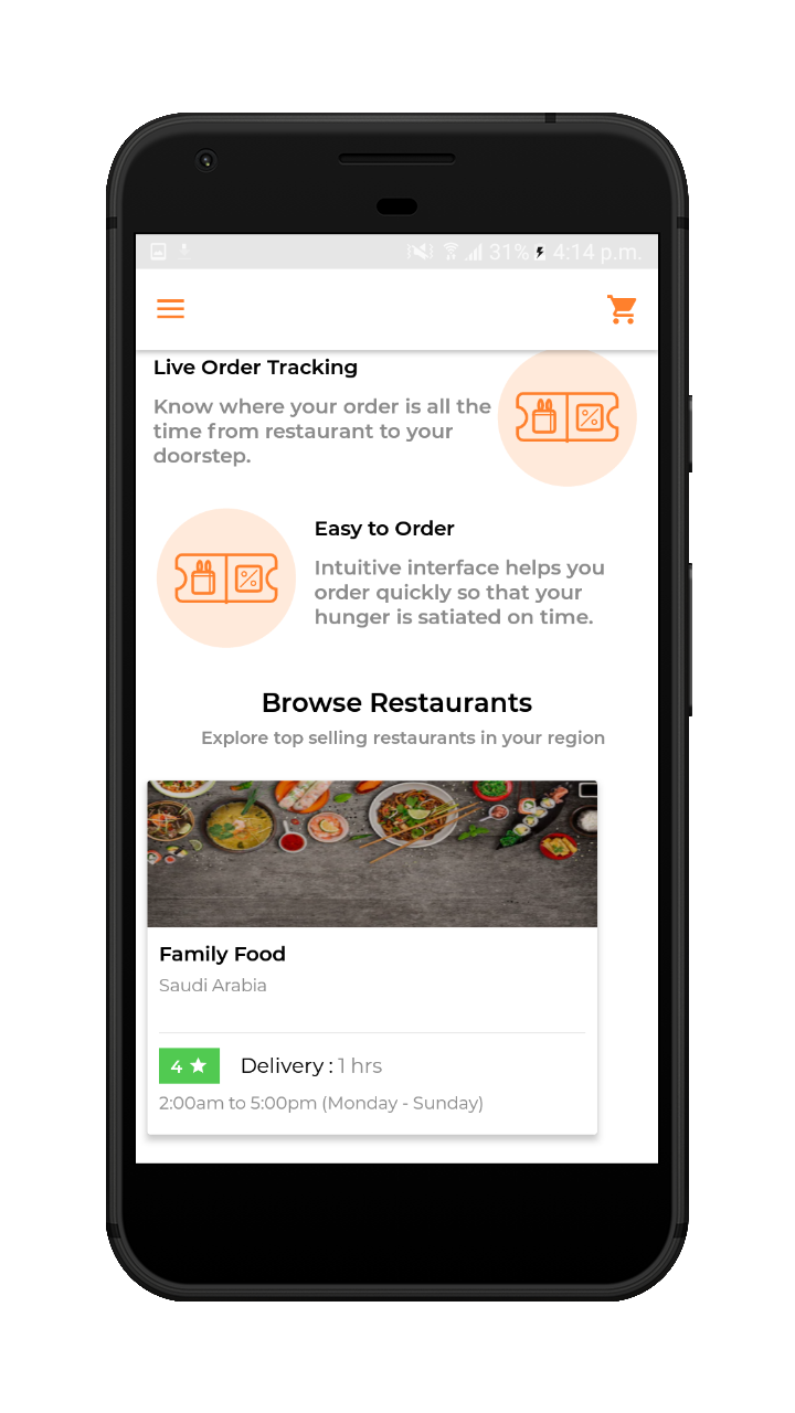 Online Food Ordering Marketplace Solution For Food Delivery
