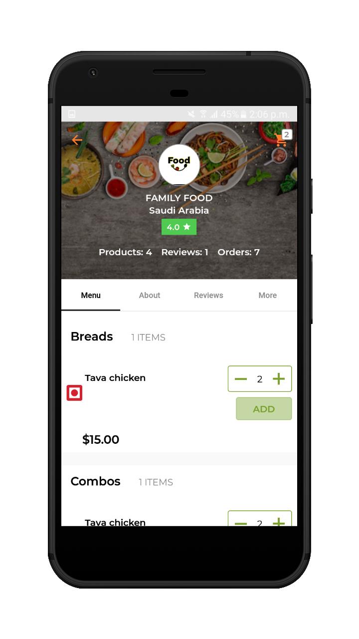 webkul-magento2-Online Food Delivery-vendor-restaurant-menu