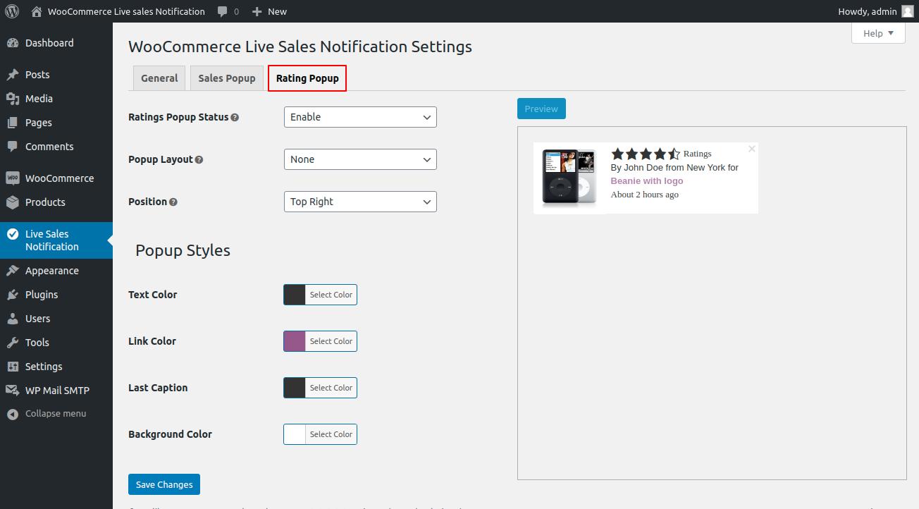 webkul-woocommerce-live-sales-notification-rating-popup