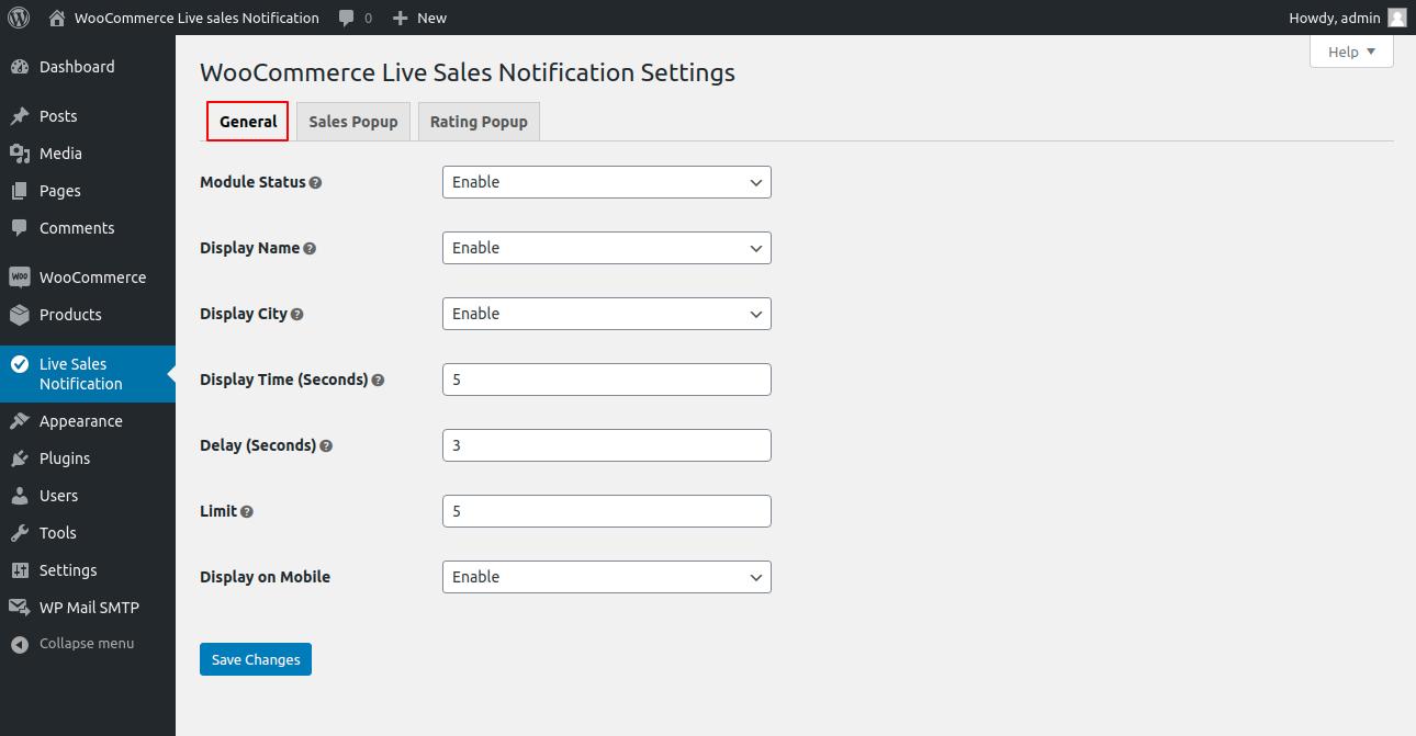 webkul-woocommerce-live-sales-notification-settings-1