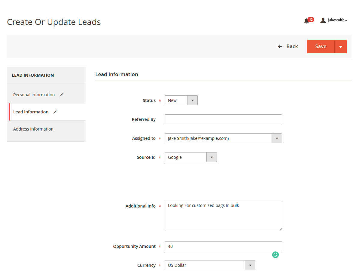 webkul_CRM_for_magento2_leads_creation_second