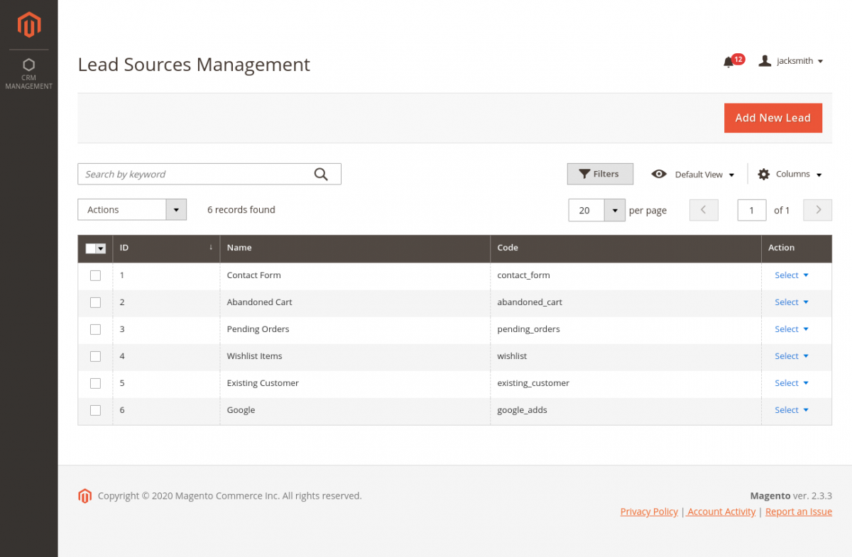 webkul_CRM_for_magento2_leads_source_management
