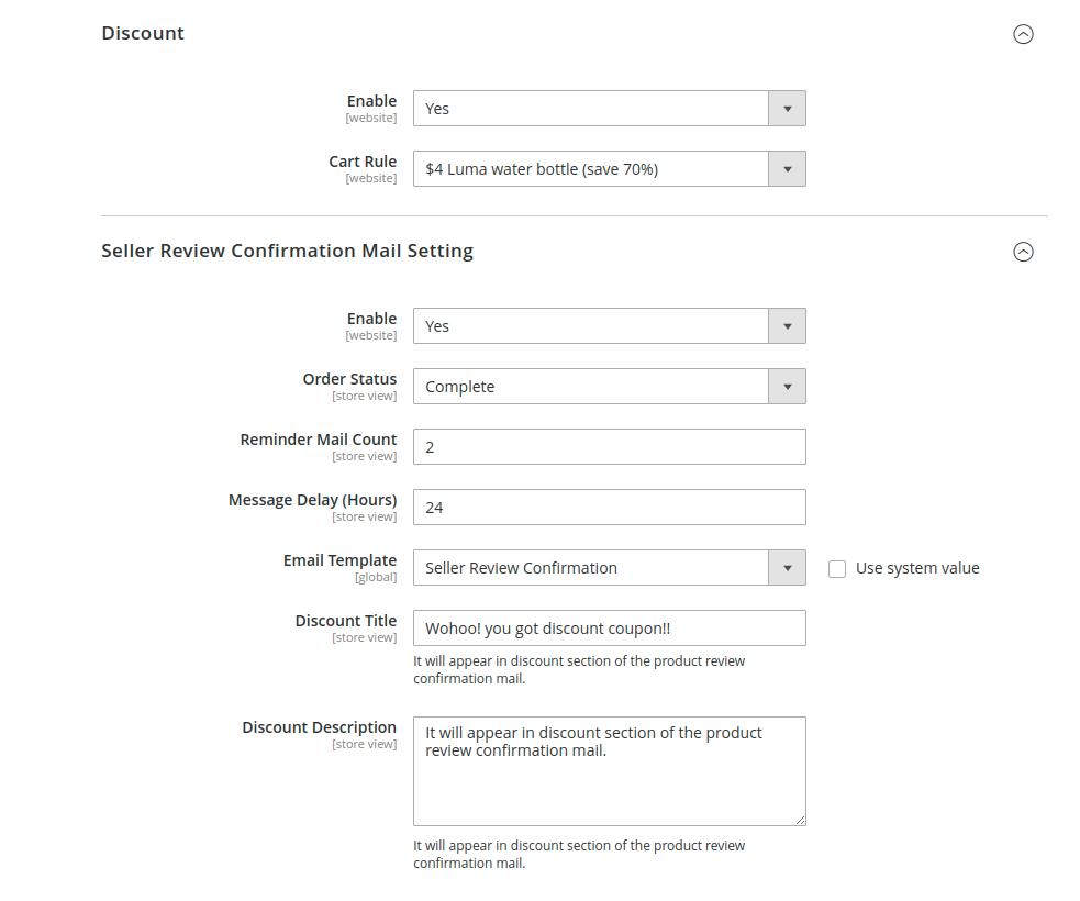 webkul-magento2-marketplace-review-reminder-seller-configuration-8-2