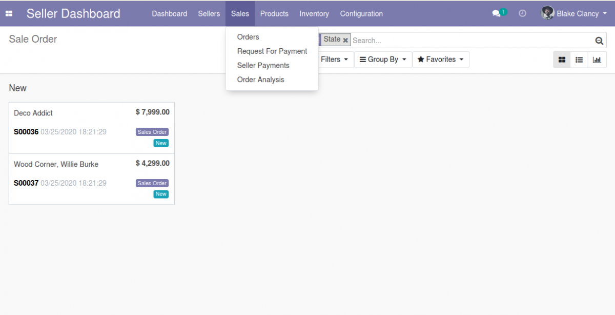 manage orders and payments at seller end