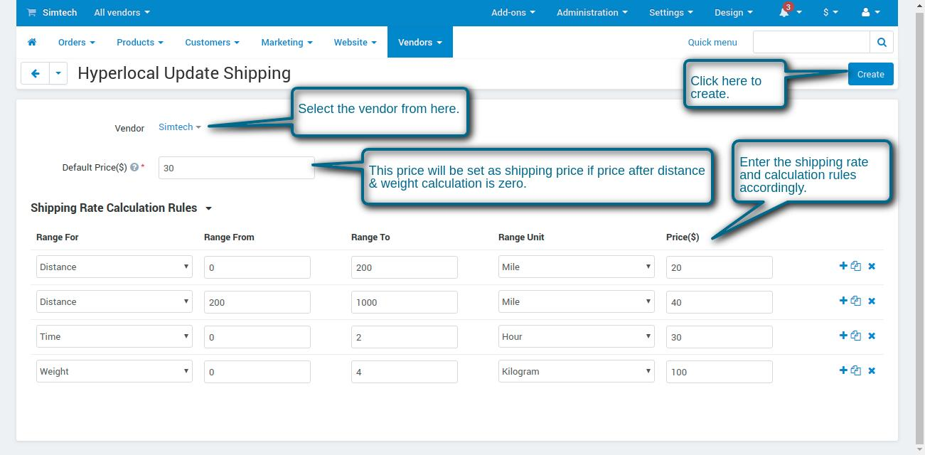 manage shipping