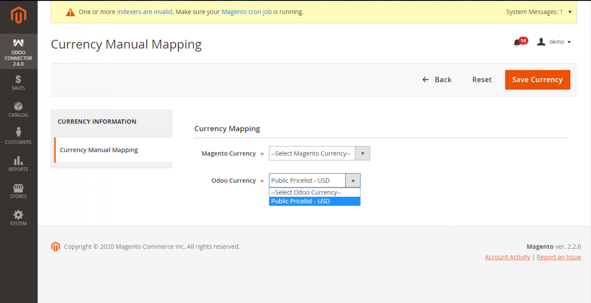 Manual Currency Mapping
