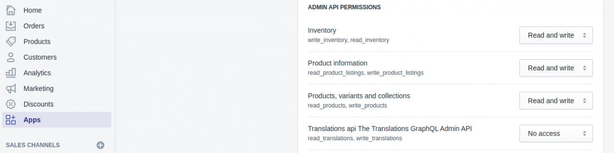 Read/write permission to create the api