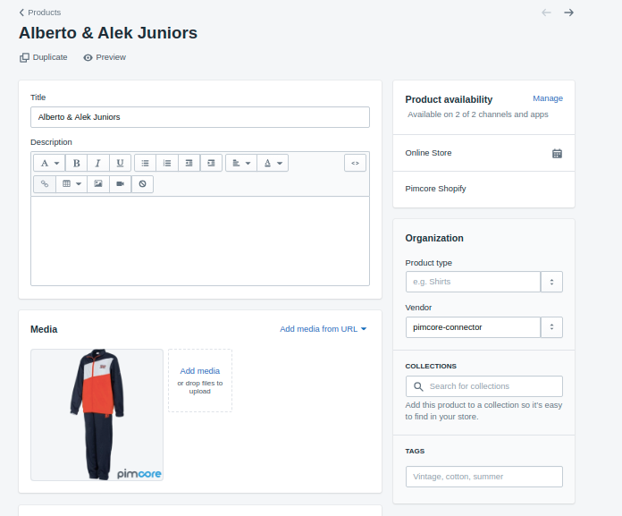 product details in Shopify