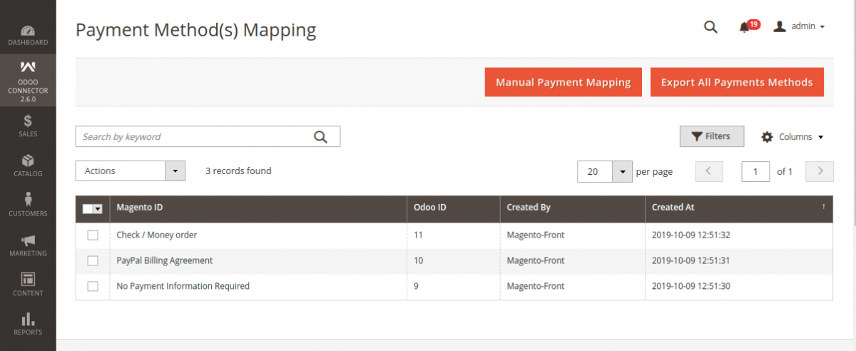 Export All Payment Methods from Magento to Odoo