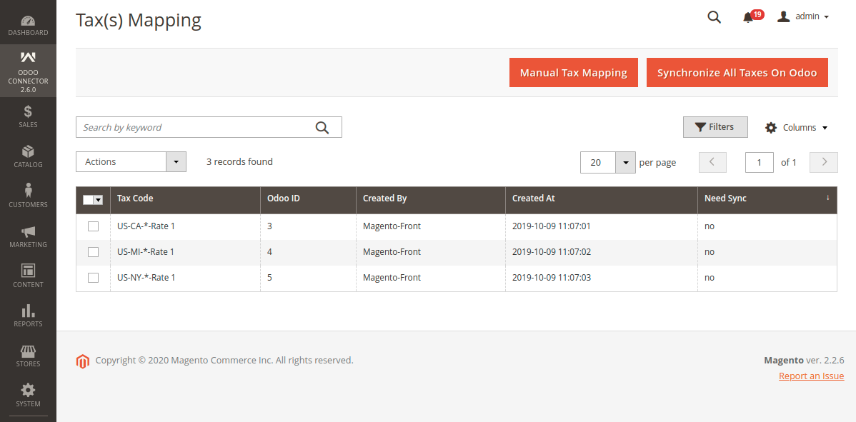 Synchronize All Taxes from Magento to Odoo