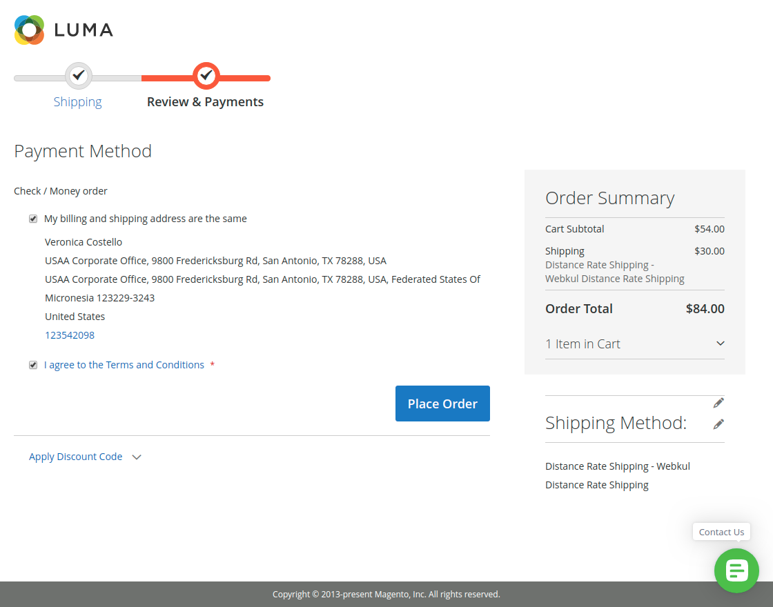 Magento 2 Distance Based Shipping Calculation-payment