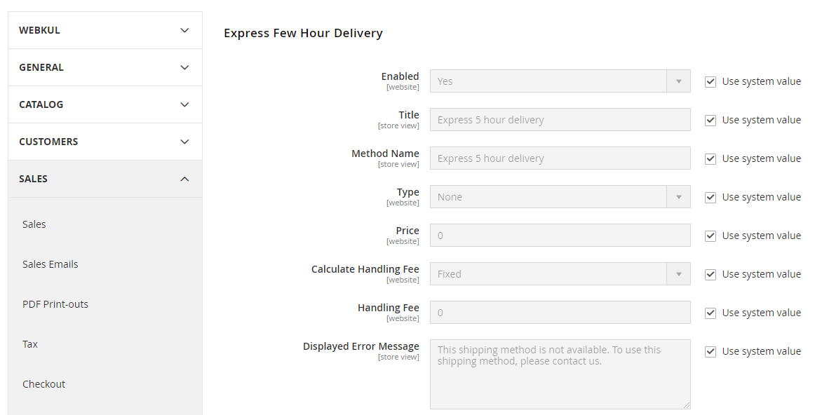 webkul-magento2-marketplace-delivery-boy-express-delivery-settings