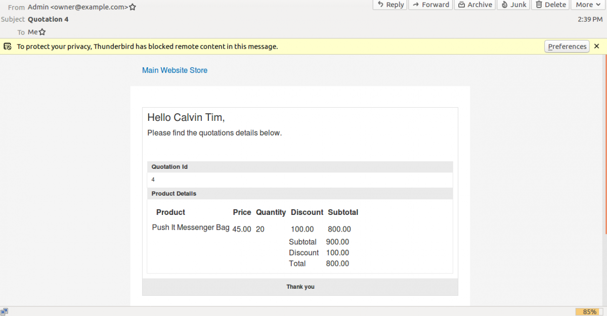 webkul_CRM_for_magento2_quotation_mail