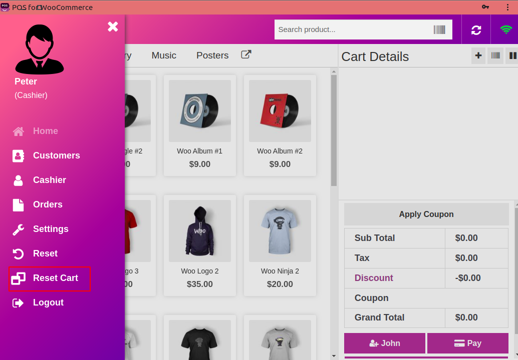 webkul_Woocommerce_Point of Sale_System_reset_cart