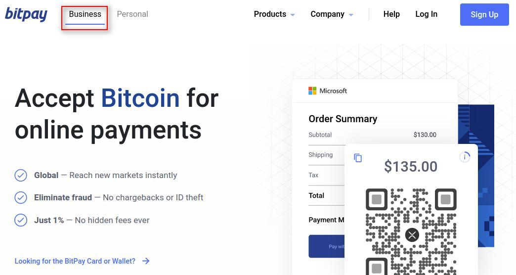 account creation on BitPay