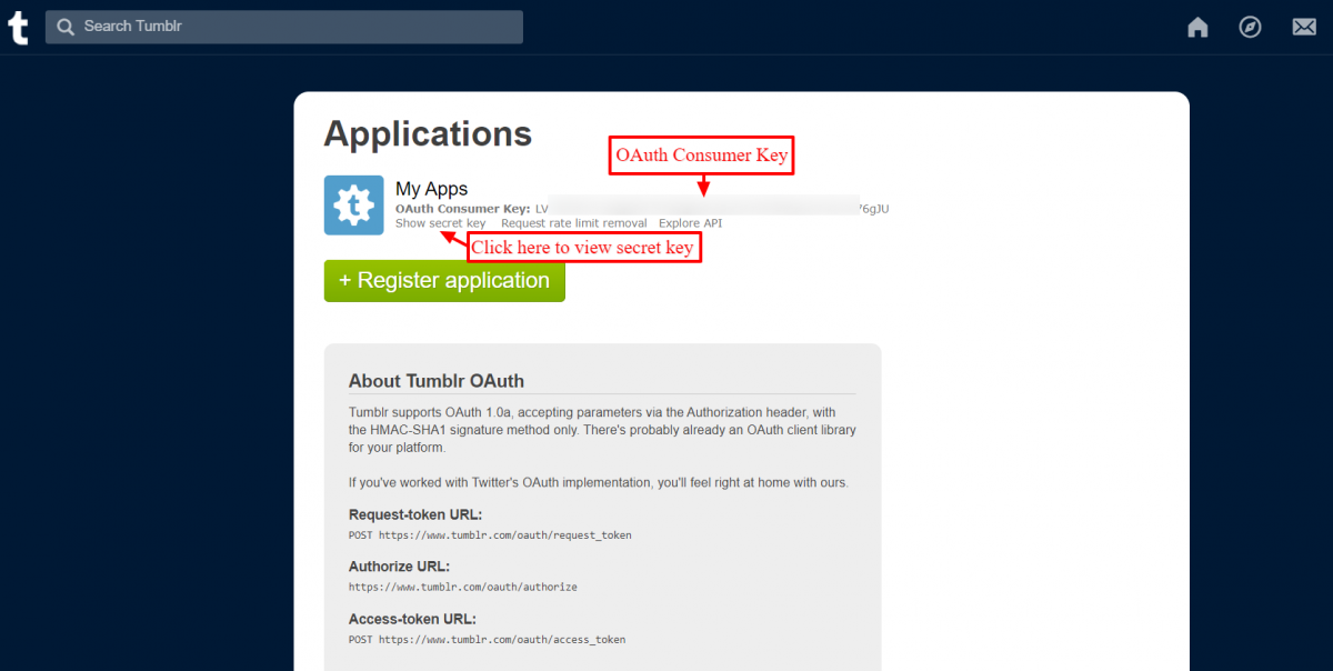 Access API key