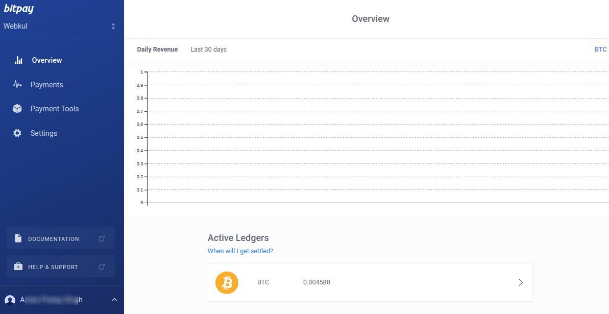bitpay account dashboard