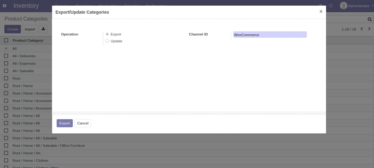 export category from Odoo to Amazon Saas
