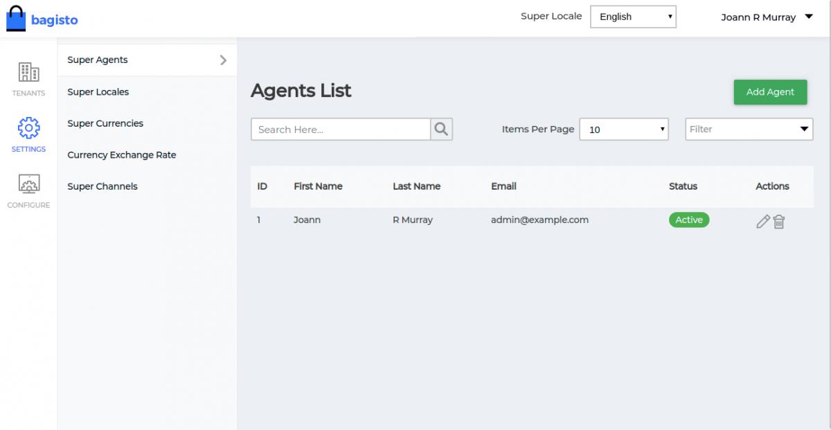 Webkul-Laravel-eCommerce-Mulit-Tenant-SaaS-Admin-Agent-List