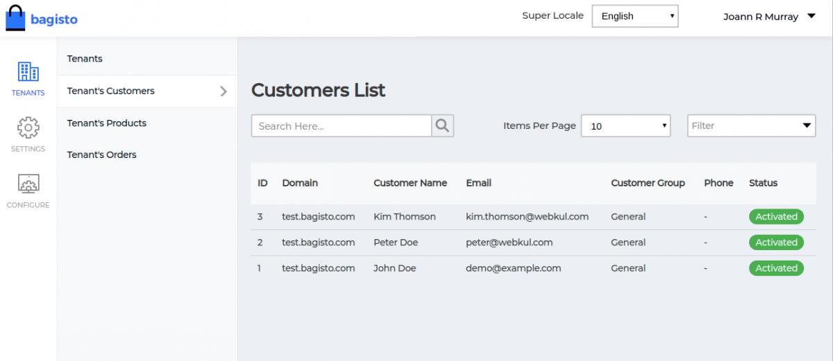 Webkul-Laravel-eCommerce-Mulit-Tenant-SaaS-Tenant-Custome-List
