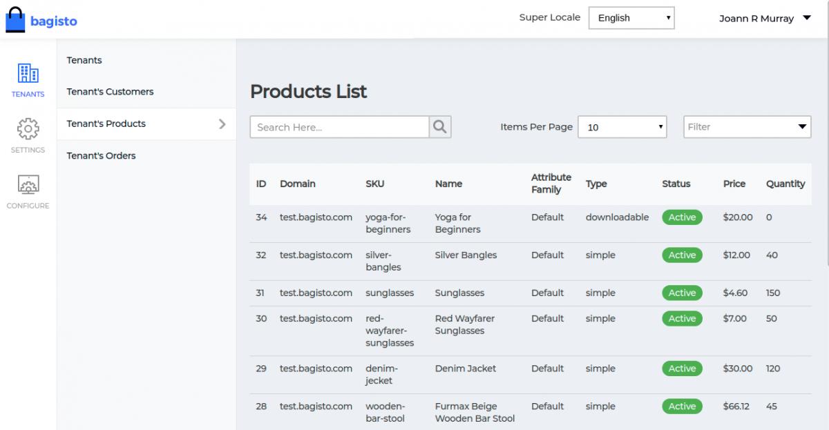 Webkul-Laravel-eCommerce-Mulit-Tenant-SaaS-Tenant-Product-List