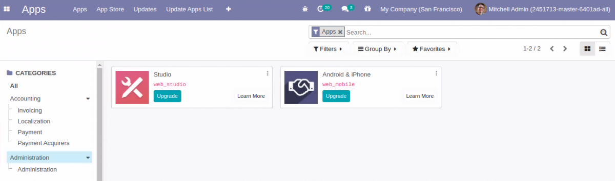 User Friendly Category Filter in Odoo 14