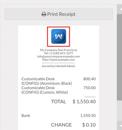 Logo appears on receipt.