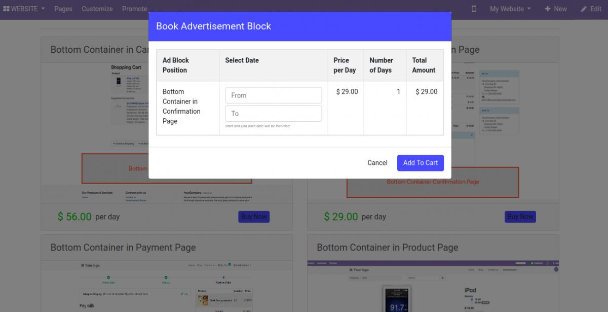 book advertisement block