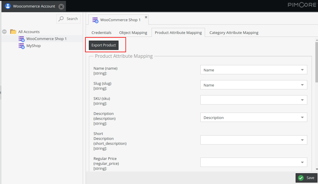 Product Export from Pimcore to WooCommerce