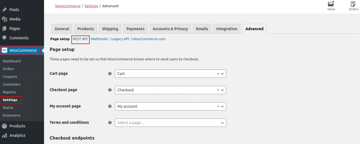 Generate API key in Pimcore WooCommerce Connector