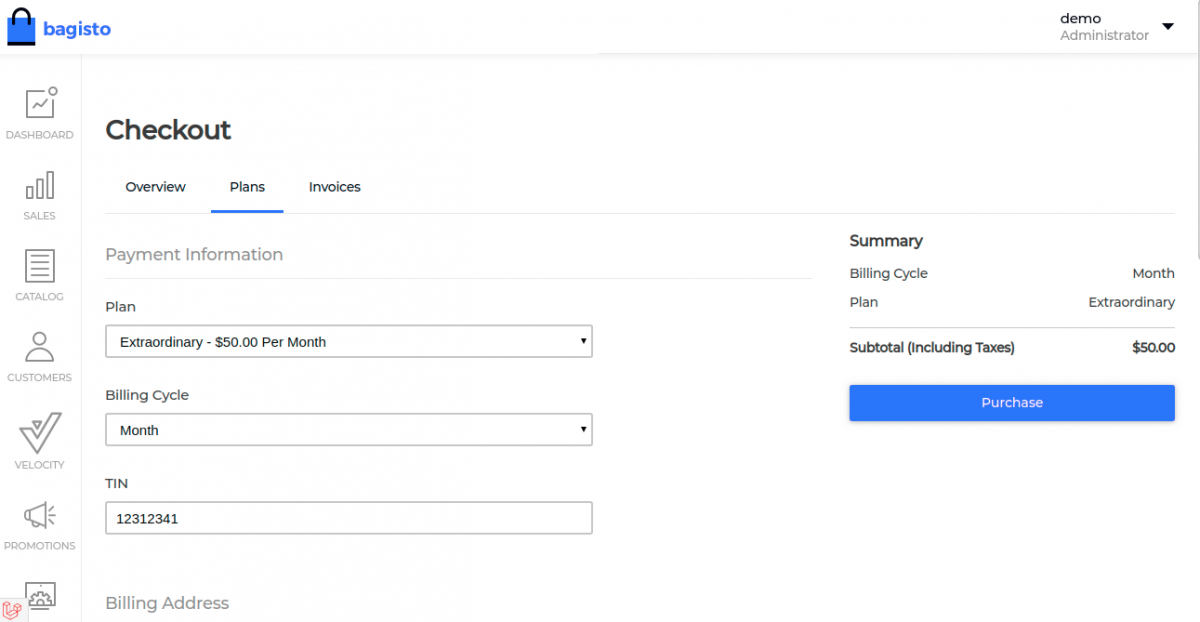 webkul-laravel-ecommerce-saas-subscription-tenant-checkout-for-buying-plan