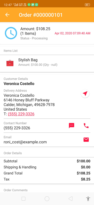 webkul-magento2-marketplace-delivery-boy-mobile-app-order-status-processing