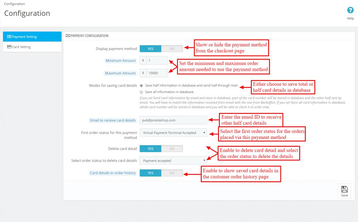 Configure Virtual Payment Terminal