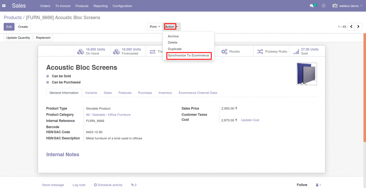 Individual Product translation export from Odoo end