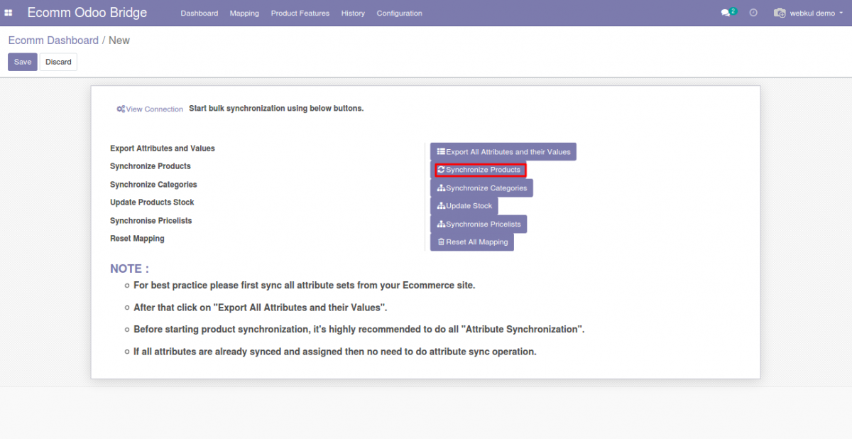 Bulk product translation from Odoo end