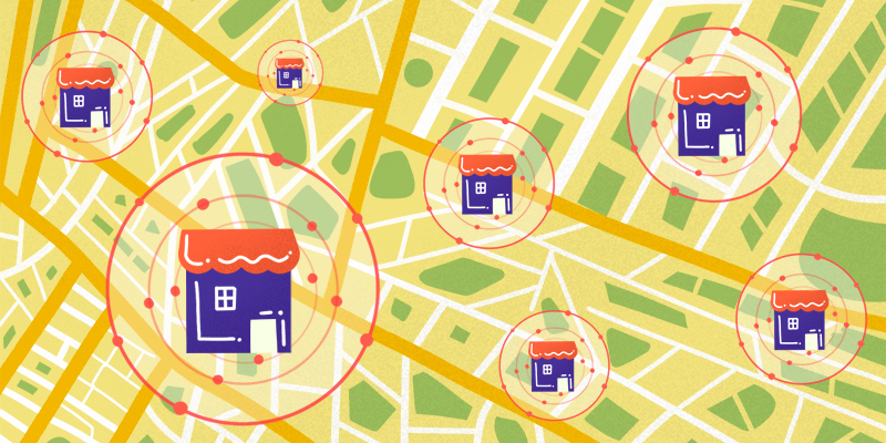 Delivery from local sellers in targeted locations
