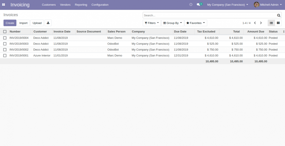 invoicing app frontend